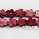 Shell Beads, Wine Red, 3*10mm dyed quincunx, Sold per 15-inch strand