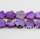 Shell Beads, Violet, 3*10mm dyed quincunx, Sold per 15-inch strand