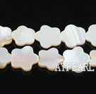 Shell Beads, White, 3*12mm dyed quincunx, Sold per 15-inch strand