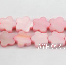 Shell Beads, Pink, 3*12mm dyed quincunx, Sold per 15-inch strand