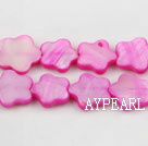 Shell Beads, Purplish Red, 3*12mm dyed quincunx, Sold per 15-inch strand