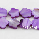Shell Beads, Purple, 3*12mm dyed quincunx, Sold per 15-inch strand