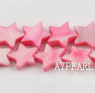 Shell Beads, Pink, 3*12mm dyed starfish, Sold per 15-inch strand