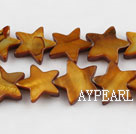 Shell Beads, Brown, 3*12mm dyed starfish, Sold per 15-inch strand