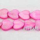 Shell Beads, Purplish Red, 3*12mm dyed heart shape, Sold per 15-inch strand