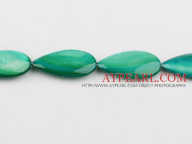 shell beads,dyed,15*30mm teardrop,sold per 15.75-inch strand