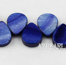 Shell Beads, Sapphire Blue, 12*18mm dyed drope shape, Sold per 15.7-inch strand