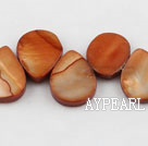 Shell Beads, Brown, 12*18mm dyed drope shape, Sold per 15.7-inch strand