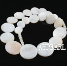 Shell Beads, White, 6*15*18*20mm dyed tower shape, Sold per 18.5-inch strand