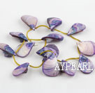 Shell Beads, Purple, 20*30mm dyed drop shape, Sold per 15.7-inch strand