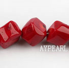coral beads,16mm cube,red,Grade A,about 6 strands/kg