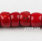 coral beads,10*15*18mm drum,red,about 3 strands/kg