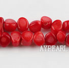 coral beads,5*8mm,red,about 33 strands/kg