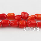 coral beads,6*8mm ,red,about 20 strands/kg