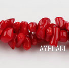 coral beads,4*8mm seedling,red,about 23 strands/kg