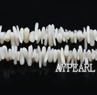 coral beads,2*6mm plantlet,white,about 67 strands/kg