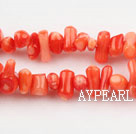 coral beads,4*8mm plantlet,pink,about 30 strands/kg