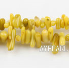 coral beads,3*10mm plantlet,yellow,about 32 strands/kg