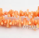 coral beads,3*10mm plantlet,marine orange,about 40 strands/kg