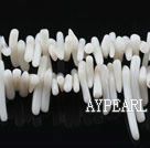 coral beads,2*12mm plantlet,white,about 37 strands/kg
