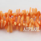 coral beads,3*12mm plantlet,orange,about 30 strands/kg