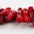 coral beads,10*30mm branch,red,about 2 strands/kg