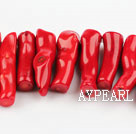 coral beads,12*40mm branch,red,about 3 strands/kg