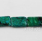 Chrysocolla beads, Green, 5*15*20mm rectangle, Sold per 15-inch strand