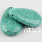 Turquoise Gemstone Beads, Green, 10*30*50mm flat drop shape,about 40 strands/kg
