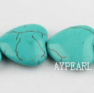 turquoise beads,8*24*24mm heart,green,about 11 strands/kg