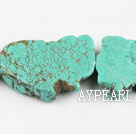 turquoise beads,6*26*28mm baroque,green,about 7 strands/kg