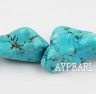 turquoise beads,14*22*40mm baroque,blue,about 5 strands/kg