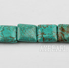 Turquoise Gemstone Beads, Green, 18*18mm square,about 15 strands/kg