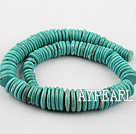 Turquoise Gemstone Beads, Green, 11-12mm fold disc shape,about 4 strands/kg