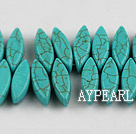 Turquoise Gemstone Beads, Green, 5*7*23mm pressed, horse eye shape,about 6 strands/kg