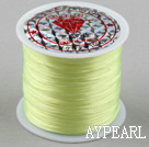 crystal elastic wire,0.03*8mm,brass green,sold per spool, about 3.93inches
