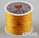 crystal elastic wire,0.03*8mm,yellow,sold per spool, about 3.93inches