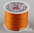 crystal elastic wire,0.03*8mm,Ginger,sold per spool, about 3.93inches