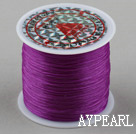 crystal elastic wire,0.03*8mm,violet,sold per spool, about 3.93inches