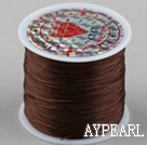 crystal elastic wire,0.03*8mm,brown,sold per spool, about 3.93inches