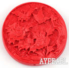 Cinnabar Beads,8*45mm flat round,Red,Sold by each.