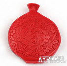 Cinnabar Beads,12*40*45mm pot,Red,Sold by each.