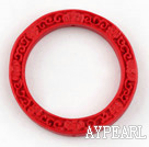Cinnabar Beads,6*48mm rondelle,Red,Sold by each.