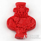 Cinnabar Beads,8*40*50mm,lantern,red,Sold by each.