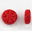 Cinnabar Beads,18mm Red,Sold by each.