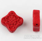 Cinnabar Beads,18mm,Red,Sold by each.