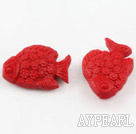 Cinnabar Beads,12*25*35mm,Red,Sold by each.
