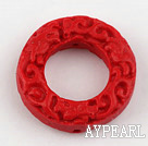 Cinnabar Beads,8*28mm rondelle,Red,Sold by each.