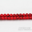 dyed bloodstone beads,4mm,red , sold per 15.75-inch strand