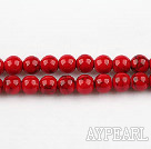 dyed bloodstone beads,6mm,red , sold per 15.75-inch strand
